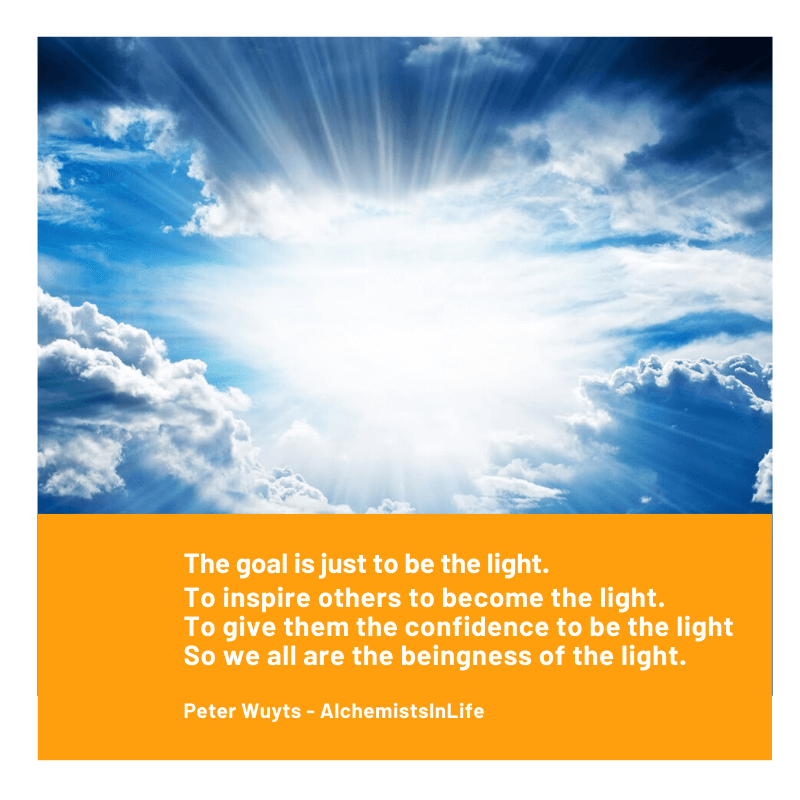 The goal is just to be the light