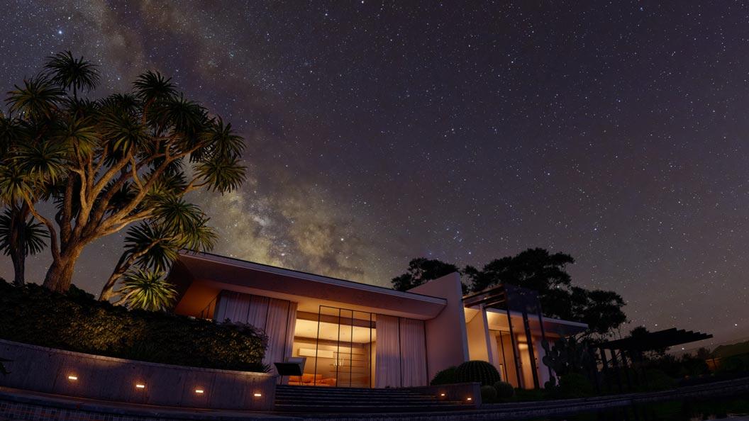 Lumion 10 real skies night