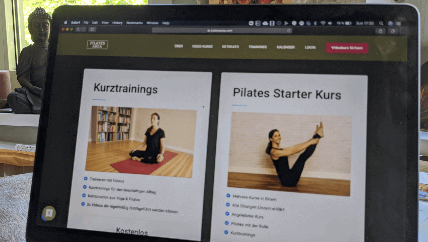 selection yoga pilates courses