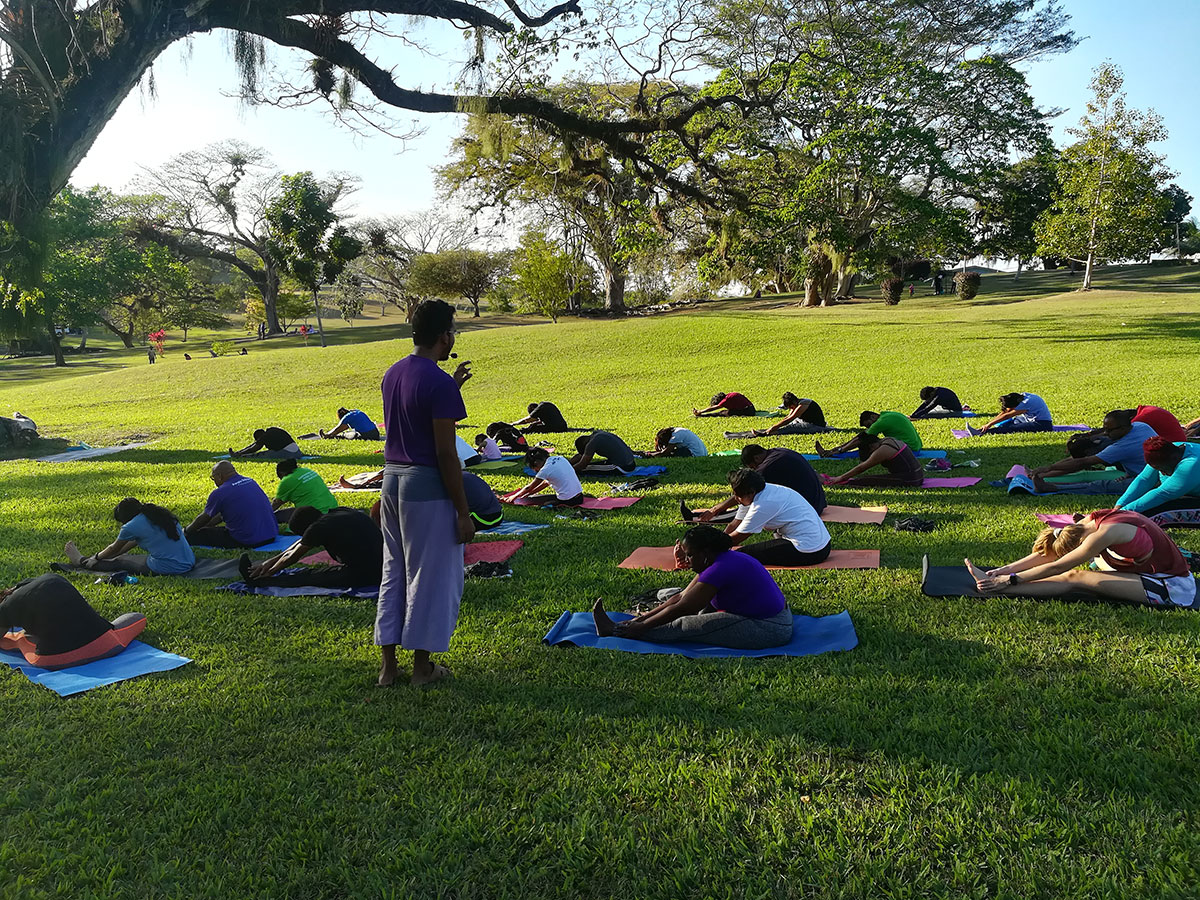 ved yoga and trees